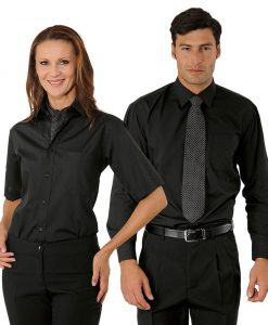 isacco-camisa-negra-unisex-camarero